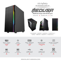 Infinity Medusa Tempered Glass With 1 RGB Fan - Gaming Case