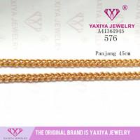 kalung nuri burik perhiasan imitasi lapis emas 576