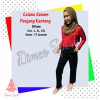 Celana Senam Panjang Polos Kantong Samping | Olahraga | Dimen Shop