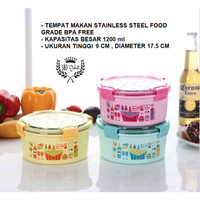 Kotak makan / Lunch Box / Tempat makan FOOD GRADE STAINLESS 1200 ml