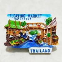 Magnet Kulkas Floating Market Thailand 2