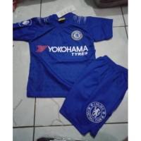 Setelan Kaos Baju Bola Jersey Anak Chelsea Home Terbaru 2019