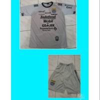 Setelan Dewasa Kaos Baju Bola Jersey Persib Kiper Abu Grade Lokal