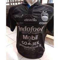 Kaos Baju Bola Jersey Persib Away Hitam 2019 Terbaru GO Printing