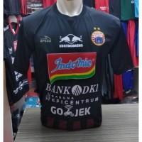 Kaos Baju Bola Jersey Persija Kiper Hitam Terbaru Lokal Full Patch