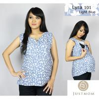 Justmom Baju Menyusui Lyra Light Blue Flower LR101