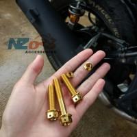 Baut Probolt Knalpot NMAX 155 3pcs Gold Ori HENG