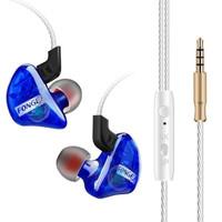 Fonge Earphone Stereo Bass Dynamic Driver dengan Mic - T01 - Blue