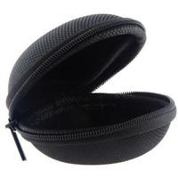 Tas Earphone Case Bentuk Bulat - D0083 - Black