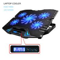 NAJU ICE FAN Cooling Pad Laptop 5 Kipas - K5 - Black/Blue