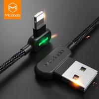 MCDODO Kabel Charger Lightning Braided L Shape 1.8 Meter - Black