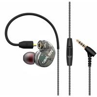 W6 PRO HiFi Sport Earphones Detachable with Mic - Black