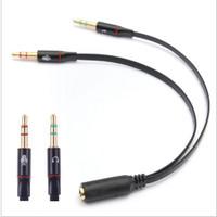 Splitter Audio Jack 3.5mm Female ke Dual 3.5mm Male HiFi (Mic+Hear)