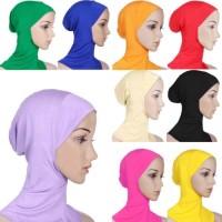 Sale Women's Under Scarf Hat Cap Bone Bonnet Ninja Hijab Islamic