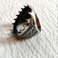 Lanka Ikatan Ring Cincin Titanium Bakar Jumbo