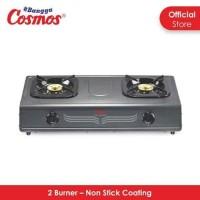 COSMOS Kompor Gas Teflon 2 Tungku CGC-5268CEB