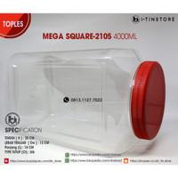 TOPLES MEGA SQUARE 4L ,JAR PLASTIK SERBAGUNA KOTAK SUPER BESAR 4000ML