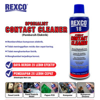 CONTACT CLEANER/PEMBERSIH KOMPONEN ELEKTRONIK REXCO 18 220ml