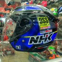 Helm NHk R6 Black Blue Halface