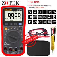 Zotek ZT219 19999 Counts True-RMS Auto Range AC/DC Diode Meter ZT219