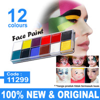 NEW Profesional Face & body art painting kit 12 warna thumbnail