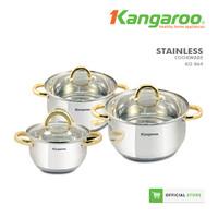 Kangaroo KG864 Cookware Set-Peralatan MasaknAnti Lengket-Anti Kerak
