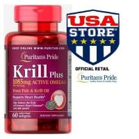PURITAN KRILL PLUS Active Omega 3 Fish Oil Krill Oil PURITAN'S PRIDE