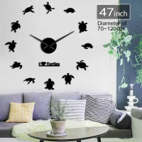 Jam Dinding Besar DIY Giant Clock 120cm I Love Turtle DIY-228