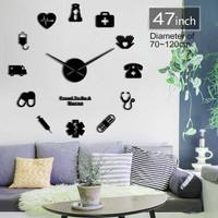 Jam Dinding Besar DIY Giant Clock 120 Nurse Doctor DIY-229