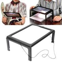 Kaca Pembesar untuk baca buku Bentuk Meja dengan Lampu LED - HL-A4