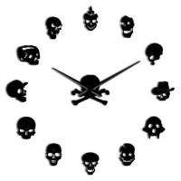 Jam Dinding Besar DIY TENGKORAK Giant Clock 120 Various Skull DIY-222
