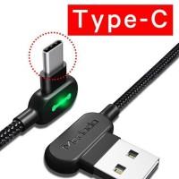 MCDODO Kabel Charger USB Type C Braided L Shape - 180cm hitam
