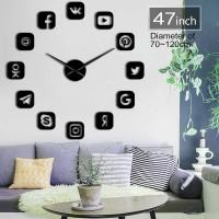 Jam Dinding Besar DIY Giant Clock 120cm Social Media DIY-225