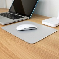 Luxury Metal Mouse Pad - SKY-053 - silver size L
