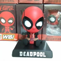 bobble Head Deadpool Pajangan Mobil kepala Goyang Figure Deadol pool
