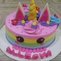 Kue Ulang Tahun Unicorn Kue Ultah Anak Kue Ultah Pacar Cake Lucu