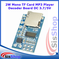 2W Mono TF Card MP3 Player Decoder Board DC 3.7 / 5V