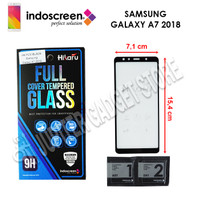 Samsung Galaxy A7 2018 Hikaru Tempered Glass Full Cover - ORI