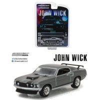 Greenlight 1/64 1969 Ford Mustang BOSS 429 John Wick Chrome Edition