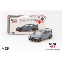 MiniGT 1/64 Honda Civic (FK8) Slate Grey TAIWAN EXCLUSIVE