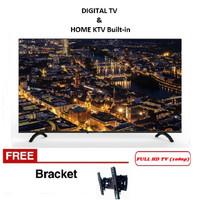 Free Braket LED TV COOCAA 43 Inch 43TB2000 FullHD HDMI USB - KARAOKE