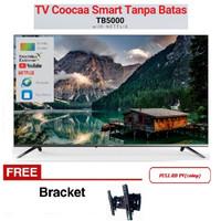 Free Braket LED TV COOCAA 43 inch 43TB5000 SmartTV Youtube HDMI USB