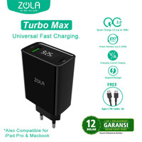 Zola Charger Turbo Max Led Display QC 3.0 & PD For Ipad pro & Macbook