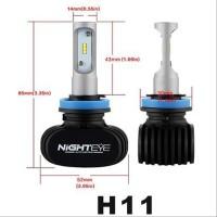 Ak Nighteye Lampu Mobil Led H11 Csp 2 Pcs - Black Terlaris Best deals