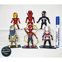 Action Figure Avengers And Game Kidslogic Set isi 6