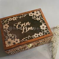 Custom Ring Box 20x15cm / Kotal Kayu / Kotak Mahar