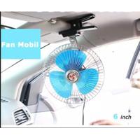 Kipas Angin Mobil Car Fan Clip Style 6 inch 12 Volt