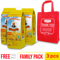 [GOSEND] Haverjoy Family Pack Rolled Oats 1kg - 3 Pcs
