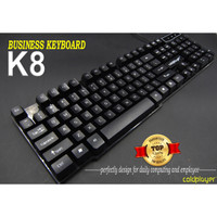 KEYBOARD DAILY OFFICE COLDPLAYER K8 BLACK/WHITE PREMIUM QUALITY