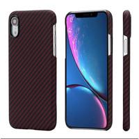 Case iPhone XR PITAKA Magcase Aramid Carbon Original - Black Red Twill